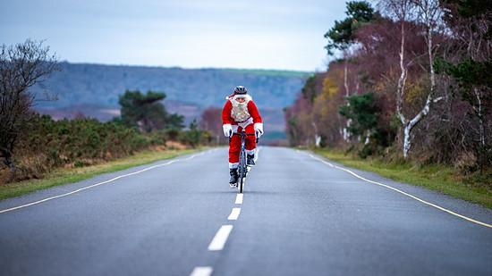 Im Windschatten vom Weihnachtsmann Kilometer sammeln