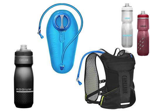 Camelbak stellt 1x die Chase Bike Vest und 1x ein komplettes Stay Hydrated Set mit 3 Podium Trinkflaschen sowie Crux Trinkblase