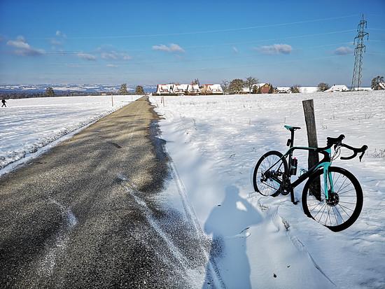 Runde in den Schnee