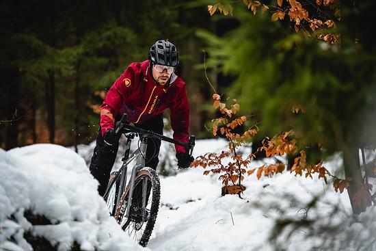 Nicht nur im Wald spielt die Fahrtechnik im Winter eine große Rolle