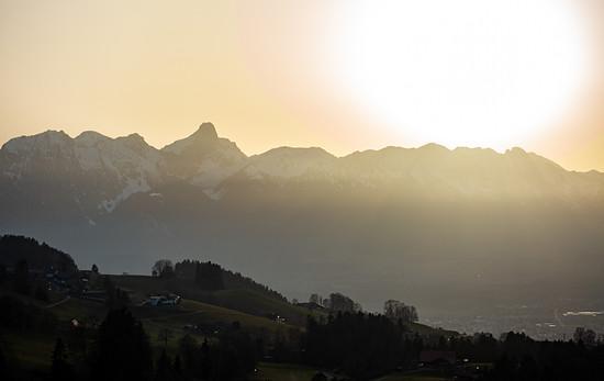 Stockhornkette im Sonnenuntergang