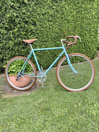 Komplett umgebautes Gudereit Fahrrad auf Retro-Renner