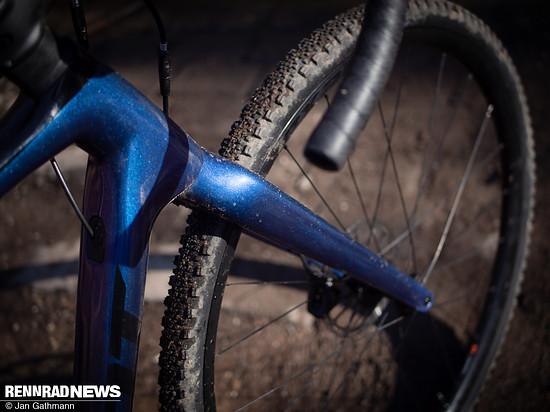 Die Giant P-X2-Laufräder sind schwer, aber machen das Fahren viel einfacher