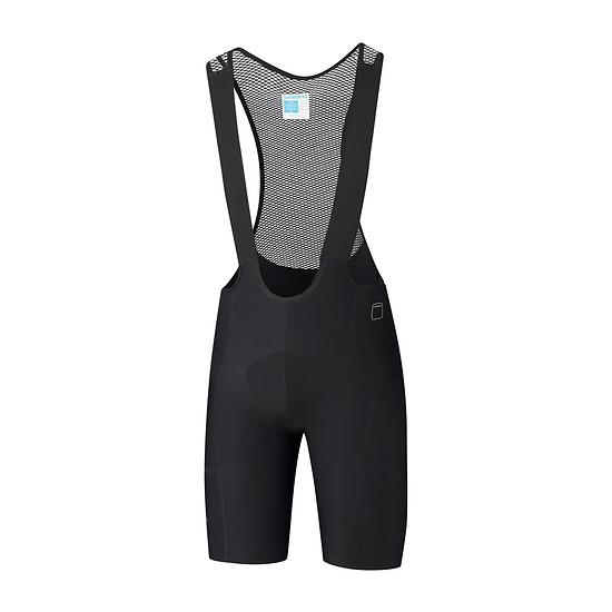 Evolve-bib-shorts-men black front