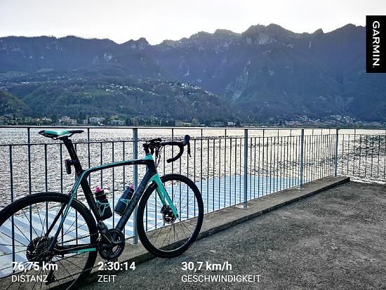 Vor dem Frühstück um den Lago di Lugano huschen