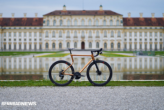Das erste Rennrad von Urwahn ist von vorne bis hinten mit Schmolke TLO Komponenten ausgestattet