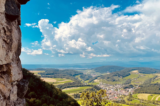 Blick von der Farnsburg Richtung Schwarzwald