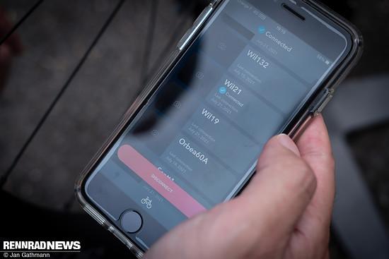 Auch das Pairing mit der E-Tube App läuft über das Schaltwerk