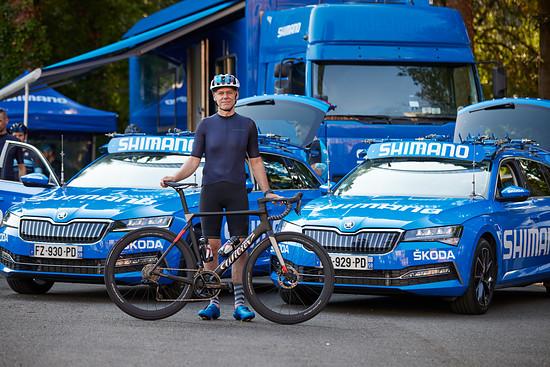 Shimano stellte in diesem Jahr erstmals die neutralen Tour de France Materialwagen