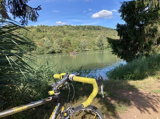 Letzte Badefreuden am Plüderhäuser See.