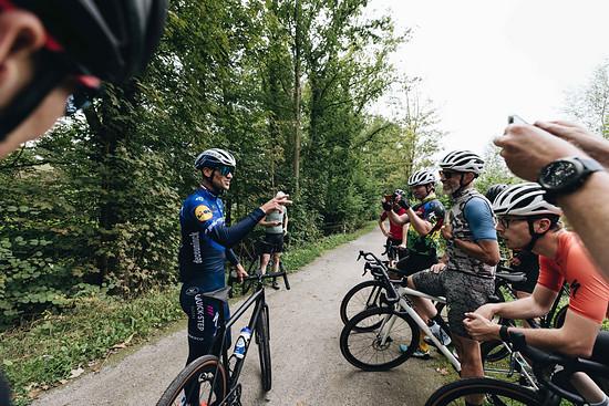 Zdeněk Štybar war von der Dynamik des Bikes angetan