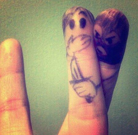 Finger ;-)