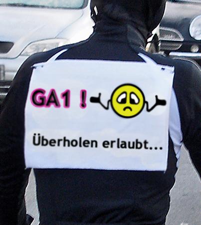 GA1 ueberholen erlaubt