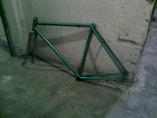 Diamant Bahnradprojekt   kommt jetzt zum Pulvern  rot!