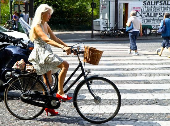 Radlerin in Frankreich